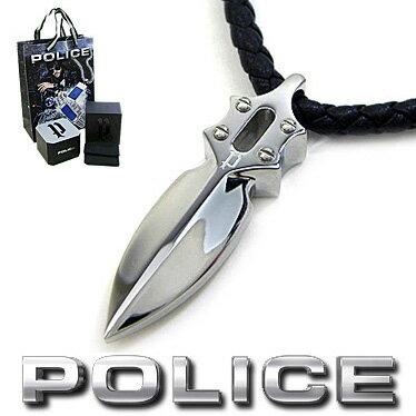 ポリス ネックレス POLICE キャスティングアローペンダント IMPACT 20575PLB01 ブラックレザーチョーカー 【楽ギフ_包装】【楽ギフ_メッセ入力】【あす楽対応】【RCP】