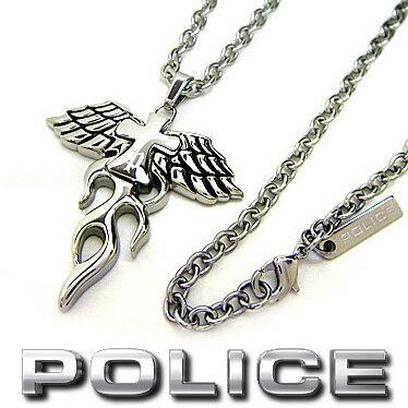 ポリス ネックレス POLICE PHOENIX クロスペンダント 25328PSS01 ステンレスネックレス 【楽ギフ_包装】【楽ギフ_メッセ入力】【RCP】