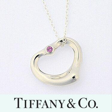 ティファニー ネックレス TIFFANY&CO. オープンハートペンダント スモール ピンクサファイヤ 24669661
