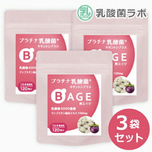 10%OFF 乳酸菌 サプリ & 糖化ケア 美エイジ3袋セット3ヶ月分腸内フローラ 美容 菌活乳酸菌 乳酸菌 タブレット AGE対策
