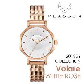【新作】【2年保証】KLASSE14 OKTO WHITE ROSE OK18RG004S 28mm 正規取扱店 クラス14 ホワイトローズ ホワイト 腕時計 レディース メンズ 人気 ブランド ● 送料無料● ラッピング無料
