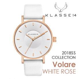【新作】【2年保証】KLASSE14 Volare WHITE ROSE VO18RG009M 42mm 正規取扱店 クラス14 ホワイトローズ ホワイト 腕時計 レディース メンズ 人気 ブランド ● 送料無料● ラッピング無料