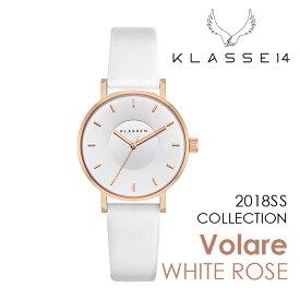 【新作】【2年保証】KLASSE14 Volare WHITE ROSE OK18RG009W 36mm 正規取扱店 クラス14 ホワイトローズ ホワイト 腕時計 レディース メンズ 人気 ブランド ● 送料無料● ラッピング無料