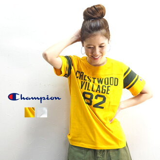 American casual casual print white white yellow adult in the summer in the spring and summer stylish champion champion short sleeves T-shirt CW-P316 T-shirt short sleeves Lady's cut-and-sew