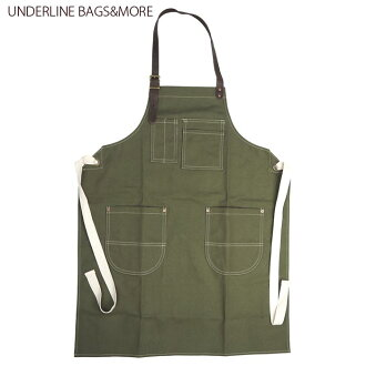 UNDERLINE BAGS, DVDs & more underline apron ULB-002 mens Womens unisex men's work apron Cafe apron fashion plain adult adult denim cute American goods American gadgets garage gardening simple Gifts Gift