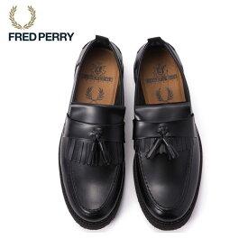 FRED PERRY フレッドペリー FPXGEORGE COX TASSEL LOA FER B8278 GEORGE COX ジョージコックス コラボ ローファー タッセルローファー メンズ レディース ラバーソール 革靴 シューズ 靴 本革 革 レザー タッセル ブラック BLACK 黒 ブランド 正規品