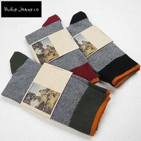 Nudie Jeans ヌーディージーンズ SOCKS MELANGE 靴下 ソックス44161-7005くつした ソックス くつ下 メンズ ブランド おしゃれ 大人 男性 プレゼント ギフト ブラック 黒 black カジュアル ヌーディー NudieJeans