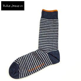 Nudie Jeans ヌーディージーンズ SOCKS STRIPED ソックス 靴下44161-7008くつした くつ下 メンズ ブランド ボーダー ボーダー柄 ボーダーソックス おしゃれ 大人 男性 プレゼント ギフト ブラック ブルー blue ネイビー navy カジュアル ヌーディー NudieJeans