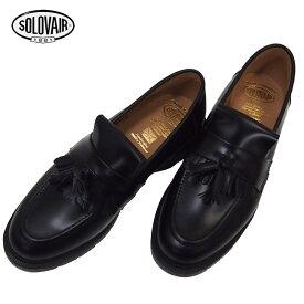 SOLOVAIR ソロヴェアー TASSEL LOAFER ローファー 0-822-17 SS17Z シューズ 靴 タッセル 紳士靴 プレーントゥシューズ ブラック メンズシューズ ブーツ カジュアル ビジネス 短靴 ソロベアー グッドイヤー