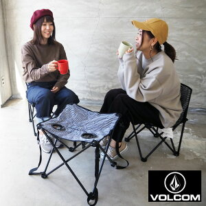 VOLCOM ボルコム アウトドアチェア テーブル セット CIRCLE STONE CHAIR & TABLE SET D67220JL アウトドア キャンプ 椅子 チェア チェアー 折り畳み ストライプ ボーダー フェス アウトドアテーブル 3点セ