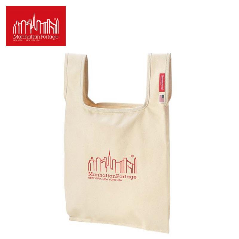 Manhattan Portage マンハッタンポーテージ Tote Bag トートバック 1329-CV-L トート バッグ 鞄 メンズ レディース キャンバストート キャンバス A4 小さめ かわいい 手提げ 手持ち ベージュ ロゴ 撥水 おしゃれ