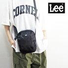 LeeリーショルダーバッグメンズレディースQPER60-0587バッグ鞄ミニショルダーバッグショルダーサブバッグ斜めがけナイロン大人中学生高校生かわいい縦型黒ブラック小さめミニ