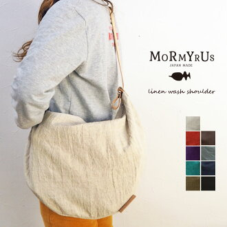 mormyrus/莫尔碾磨机linen shoulder bag/亚麻布挎包NO.M008 m008挎包BAG包包包包女士女士包女士肩膀亚麻布肩膀软皮革皮革简单的包国内生产