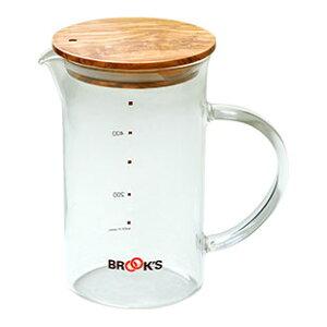 ブルックス ダブルドリップピッチャー ドリップバッグがかけられる。水出しコーヒーや紅茶も作れて様々なシーンで使えるオリジナルピッチャーです 耐熱ガラス/ポット/BROOK'S/BROOKS