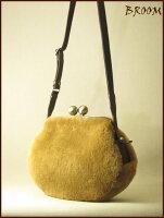 【ムートンがま口バッグ】【がま口バッグ】【革がま口ショルダーバッグ】BROOM