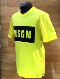 【SALE】新着!メンズ 2019春夏『MSGM(エムエスジーエム)』半袖ロゴTシャツ【ホワイト/イエロー/ブラック】