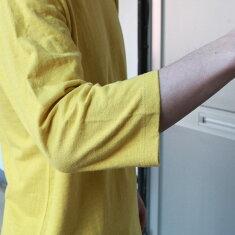 ゴーヘンプGOHEMPBASICFOOTBALLTEETシャツトップスロンT七分袖ヘンプ無地メンズレディースアウトドア2021SS