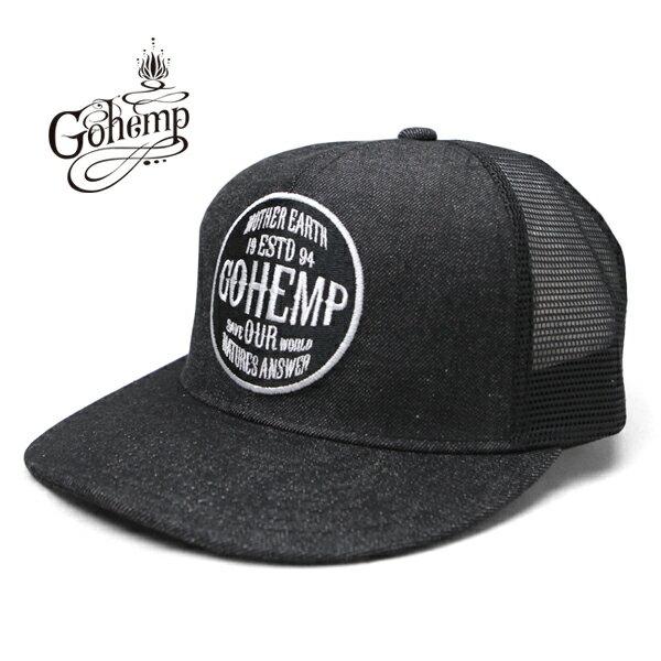【ポイント5倍】GO HEMP(ゴーヘンプ)【2018SS新作】 GOHEMP LOGO MESH CAP / 帽子