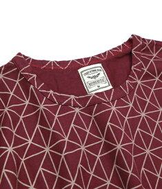 ナチュラルバイシクルNaturalbicycleトップスTシャツ半袖Brownfloor10周年記念!EZONOHAfullpatternT【MADEINJAPANseries】