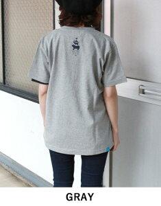 ナチュラルバイシクルNaturalbicycleEZOBANDEmbroidTTシャツ半袖トップス