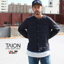TAION タイオン ダウン インナーダウン CREW NECK BUTTON DOWN JACKET 2019AW