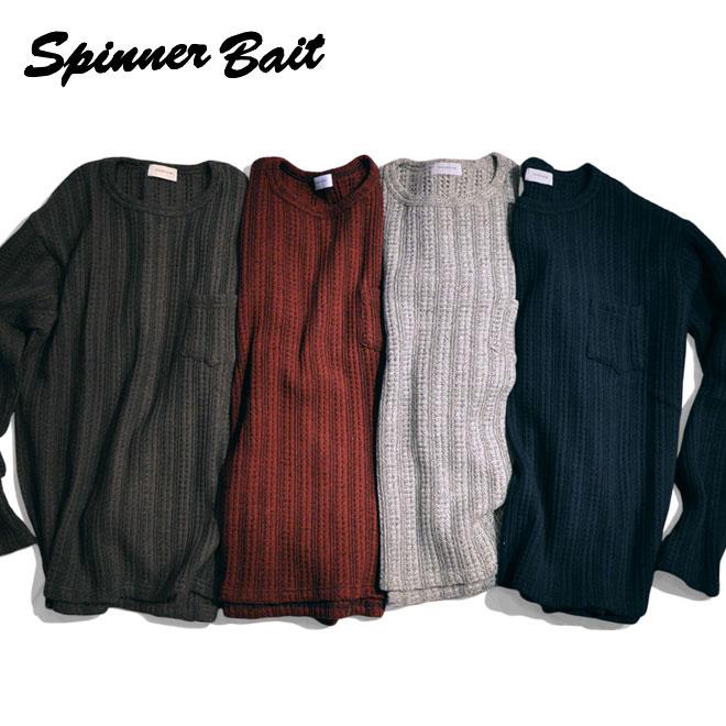 スピナーベイト Spinner Bait クルーネック L/SL TEE グランベルストライプ ニット