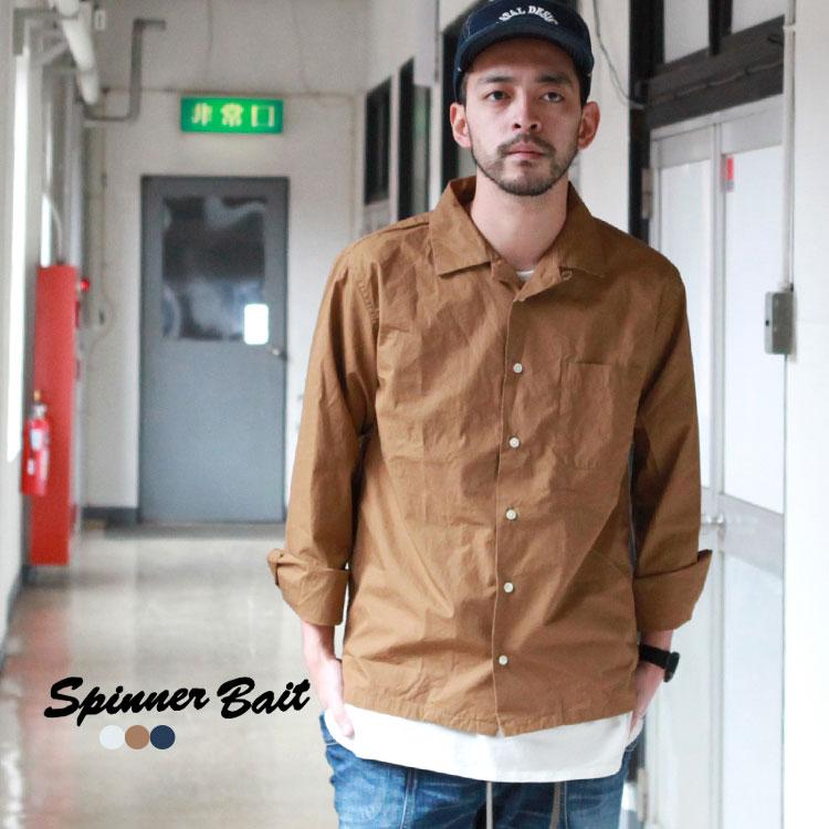 スピナーベイト Spinner Bait オープンカラーシャツ ウェザー トップス シャツ