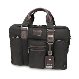 Tumi TUMI Alpha Bravo ALPHA BRAVO McNair slim briefs 22611 HKH bag Briefcase men's HICKORY (Hickory) black black / dark brown bag business commute [brand documents bag commuter business bag Tumi Tschumi Tumi outlet class price transmission