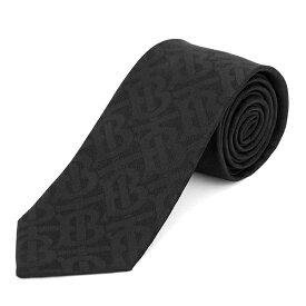 【最大5000円OFFクーポン配布中★12/16(月)14:00まで】バーバリー ネクタイ BURBERRY 8013801 A1189 ブランド小物 クラシック カット CLASSIC CUT MONOGRAM SILK JACQUARD TIE メンズ BLACK(ブラック) ブラック 黒【 送料無料】