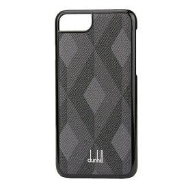 ダンヒル iPhone7/iPhone8 スマートフォンケース dunhill L2CPA9Z ブランド小物 カドガン CADOGAN ENGINE TURN IPHONE カバー メンズ BLACK ブラック 黒/グレー【 送料無料】