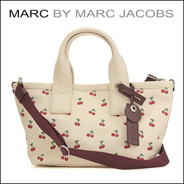 マークバイ マークジェイコブス ハンドバッグ MARC BY MARC JACOBS M0007852 911 バッグ EMBROIDERED FRUIT CANVAS SMALL レディース OFFWHITE(オフホワイト)/CHERRY PRINT(チェリープリント) オフホワイト/レッド 赤 ファブリック パターン 刺繍 バッグチャーム キュート