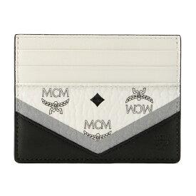 【訳ありアウトレット】エムシーエム カードケース MCM MXA 9SCV01 BK001 ブランド小物 ヴィセトス VISETOS ユニセックス WHITE(ホワイト)/BLACK(ブラック) ホワイト 白/ブラック 黒【 送料無料】