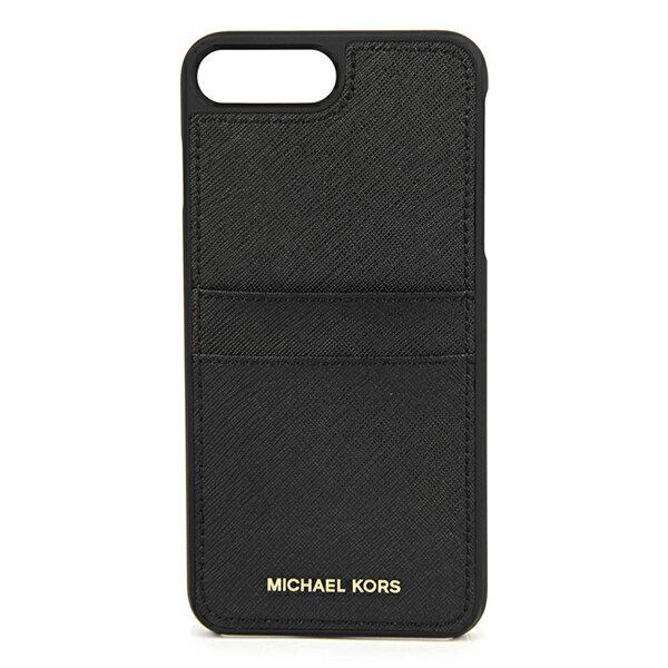 マイケルコース iPhone7 Plus/iPhone8 Plus スマートフォンケース MICHAEL KORS 32S7GE7L1L 001 ブランド小物 アイフォンケース ELECTRONIC LEATHER PHONE COVER FOR IPHONE7/8 PLUS レディース BLACK ブラック 黒 ロゴ スマホケース アイフォン7 プラス/8 プラス シンプル