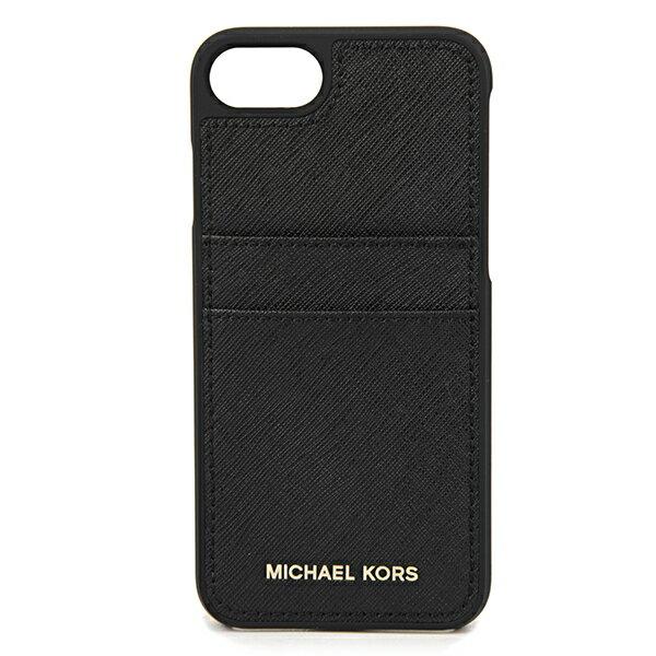 マイケルコース iPhone7/iPhone8 スマートフォンケース MICHAEL KORS 32S7GE7L3L 001 ブランド小物 アイフォンケース ELECTRONIC LEATHER PHONE COVER FOR IPHONE7/8 レディース BLACK ブラック 黒 ロゴ スマホケース アイフォン7/8 シンプル 上品 アイフォーンケース アイフ