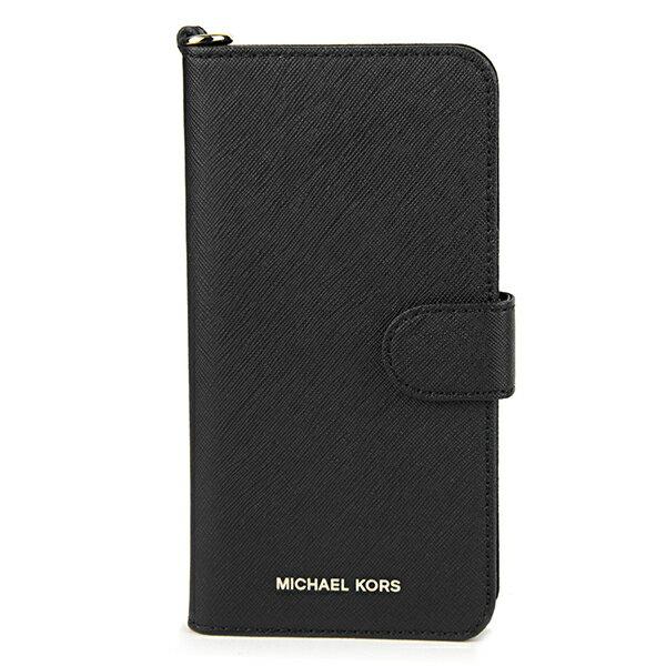 マイケルコース iPhone7 Plus/iPhone8 Plus スマートフォンケース MICHAEL KORS 32S7GE7L9L 001 ブランド小物 アイフォンケース ELECTRONIC LEATHER FOLIO PHONE CASE FOR IPHONE7/8 PLUS レディース BLACK ブラック 黒 手帳型 フォリオ スマホケース アイフォン7 プラス/8