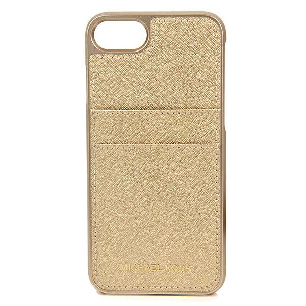 マイケルコース iPhone7/iPhone8 スマートフォンケース MICHAEL KORS 32S7ME7L8M 740 ブランド小物 アイフォンケース ELECTRONIC LEATHER PHONE COVER FOR IPHONE7/8 レディース PALE GOLD(ペールゴールド) ゴールド 型押しロゴ スマホケース アイフォン7/8 スタイリッシュ