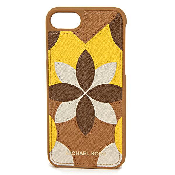 マイケルコース iPhone7/iPhone8 スマートフォンケース MICHAEL KORS 32T7GE7L1U 532 ブランド小物 アイフォンケース ELECTRONIC LEATHER PHONE COVER FOR IPHONE7/8 レターズ レディース ACORN(エイコーン) イエロー 黄/ブラウン 茶 フラワー 花柄 スマホケース アイフォン7