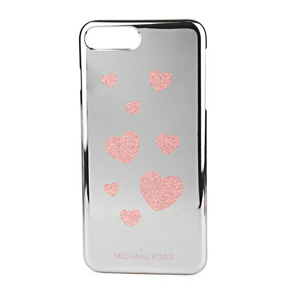 マイケルコース iPhone7 Plus/iPhone8 Plus スマートフォンケース MICHAEL KORS 32T7GE9L0R 674 ブランド小物 アイフォンケース ELECTRONIC PLASTIC PHONE COVER FOR IPHONE7/8 PLUS レターズ レディース ROSE GOLD ローズゴールド ハート グリッター ミラー スマホケース ア