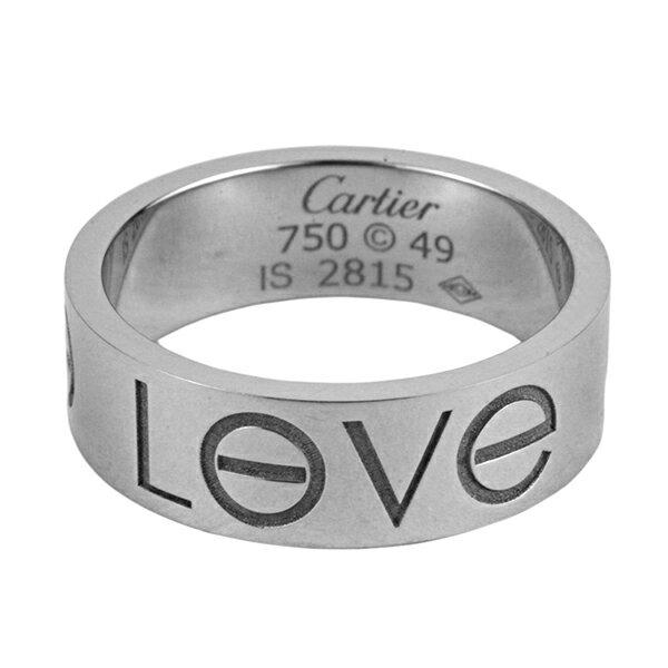 カルティエ リング CARTIER B40855 アクセサリー ラブコレクション LOVE COLLECTION LOVE Ring ラブリング(ラブロゴ)WG #49 特価 レディース ホワイトゴールド シルバー お揃い 記念日 【 カルチェ 送料無料 楽天】