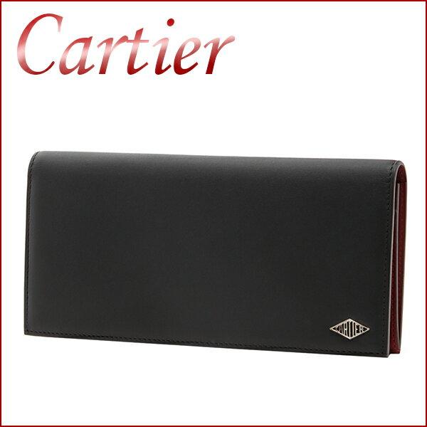 カルティエ 長財布 CARTIER L3001406 財布 ルイ カルティエ LOUIS CARTIER メンズ ブラック 黒 2つ折り バイカラー ラグジュアリー【 カルチェ 送料無料 楽天】