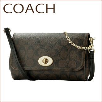 Coach shoulder bags COACH OUTLET F34615 IMAA8 bag signature signature signature mini women's BROWN/BLACK brown black Monogram 2WAY Crossbody classic chic formal