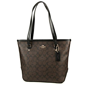 9a93af1e34db コーチ アウトレット トートバッグ COACH OUTLET F58294 IMAA8 バッグ シグネチャー SIGNATURE ジップ トップ  トート レディース BROWN
