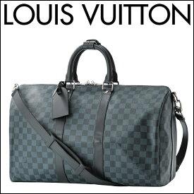 ルイヴィトン ボストンバッグ Louis Vuitton N41349 バッグ ダミエ コバルト DAMIER COBALT キーポル・バンドリエール 45 メンズ BLACK/BLUE ブラック 黒/ブルー【 送料無料】