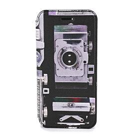 【最大3000円OFFクーポン★4/16(金)14:00まで】ポールスミス iPhone6/6S/7/8 スマートフォンケース PAUL SMITH M1A 5818 A40290 79 ブランド小物 カメラプリント CAMERA PRINT IPHONE WALLET CASE ユニセックス BLACK ブラック 黒/マルチ【 送料無料】