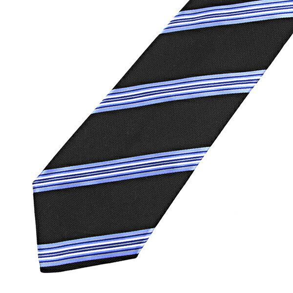 ポールスミス ネクタイ PAUL SMITH 552M Y47 B ブランド小物 MEN TIE 8CM BLADE メンズ BLACK/BLUE ブラック/ブルー ストライプ ビジネス【 送料無料】