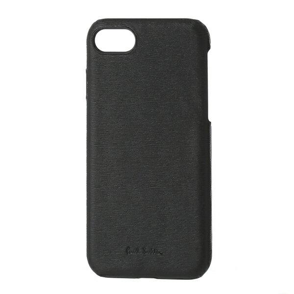 【最大3000円OFFクーポン配布中】ポールスミス iPhone7/iPhone8 スマートフォンケース PAUL SMITH AUXC 5173 W905 79 ブランド小物 サフィアーノレザー SAFFIANO LEATHER IPHONE 7 CASE メンズ BLACK ブラック 黒 スマホケース アイフォン7/8 スタイリッシュ アイフォーンケ
