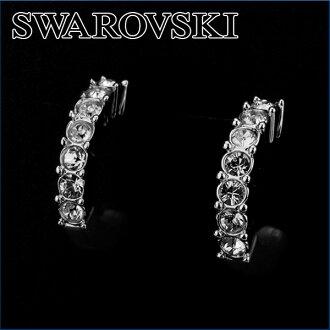 施华洛世奇无环耳环SWAROVSKI 956725配饰BETH无环耳环女士SILVER(银子)银子线水晶