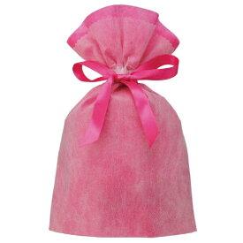 ラッピングバッグ 不織布 Wシャンテタイプ LL 無地 ピンク - 送料無料※600円以上 メール便発送