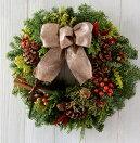 モミの木クリスマスリース手作りキット■生花もみの木クリスマスリース■キット(材料・花材・マニュアル)■もみクリスマスリース■クリスマス本物のもみ■オレゴン産もみの木■選べるリボン■自然素材