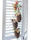 ■クリスマス以外でも飾れる■手作りキット■クリスマスプリザーブドフラワーハンギング■材料・花材・マュアル■クリスマス玄関に■プリザーブドフラワーキット・クリスマスツリープリザーブドフラワーキット壁飾り手作りキットクリスマス
